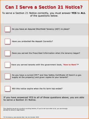Can I Serve a Section 21 Notice Checklist.