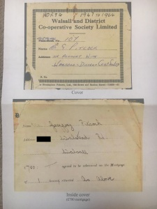 1947 Walsall Co-op Society Mortgage Agreement