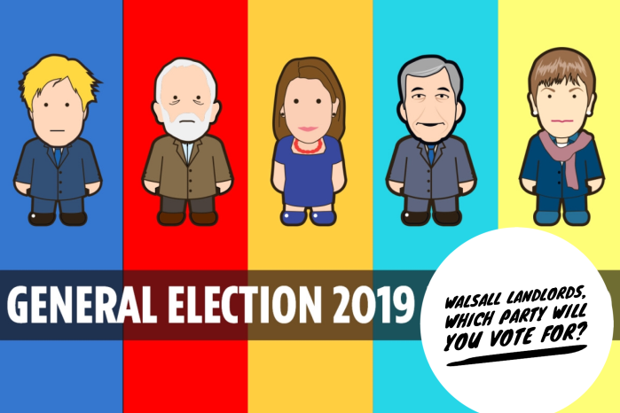 Walsall Landlords, Which Party Will You Vote For In The 2019 General Election?